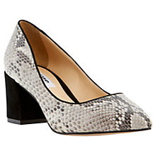 Buy Dune Alise Block Heeled Court Shoes, Natural Online at johnlewis.com