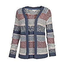 Buy Fat Face Loftus Stripe Edge to Edge Cardigan, Multi Online at johnlewis.com