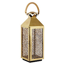 Buy Culinary Concepts Mustique Brass Lantern Online at johnlewis.com