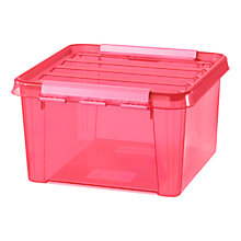 Buy Smartstore Colour Plastic Storage Box, Pink Online at johnlewis.com