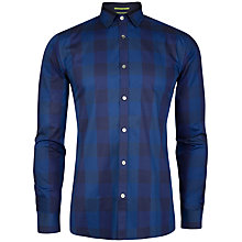 Buy Ted Baker Lostone Check Shirt, Blue Online at johnlewis.com