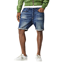 Buy G-Star Raw Type C Denim Shorts, Dark Aged Online at johnlewis.com