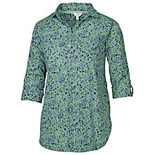 Buy Fat Face Harlow Florabundle Popover Top, Green Tea Online at johnlewis.com
