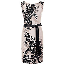 Buy Jacques Vert Floral Print Shift Dress, Multi Neutral Online at johnlewis.com