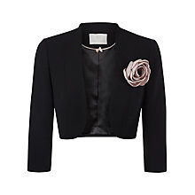 Buy Jacques Vert Corsage Trim Bolero, Black Online at johnlewis.com