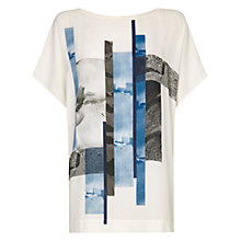 Buy Damsel in a dress Marina Print Top, Blue Online at johnlewis.com