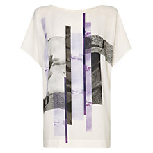 Buy Damsel in a dress Marina Print Top, Purple Online at johnlewis.com