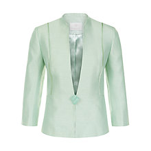 Buy Jacques Vert Petite Ribbon Button Jacket, Light Green Online at johnlewis.com