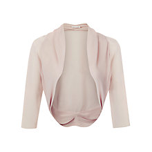 Buy Jacques Vert Chiffon Trim Bolero, Champagne Online at johnlewis.com