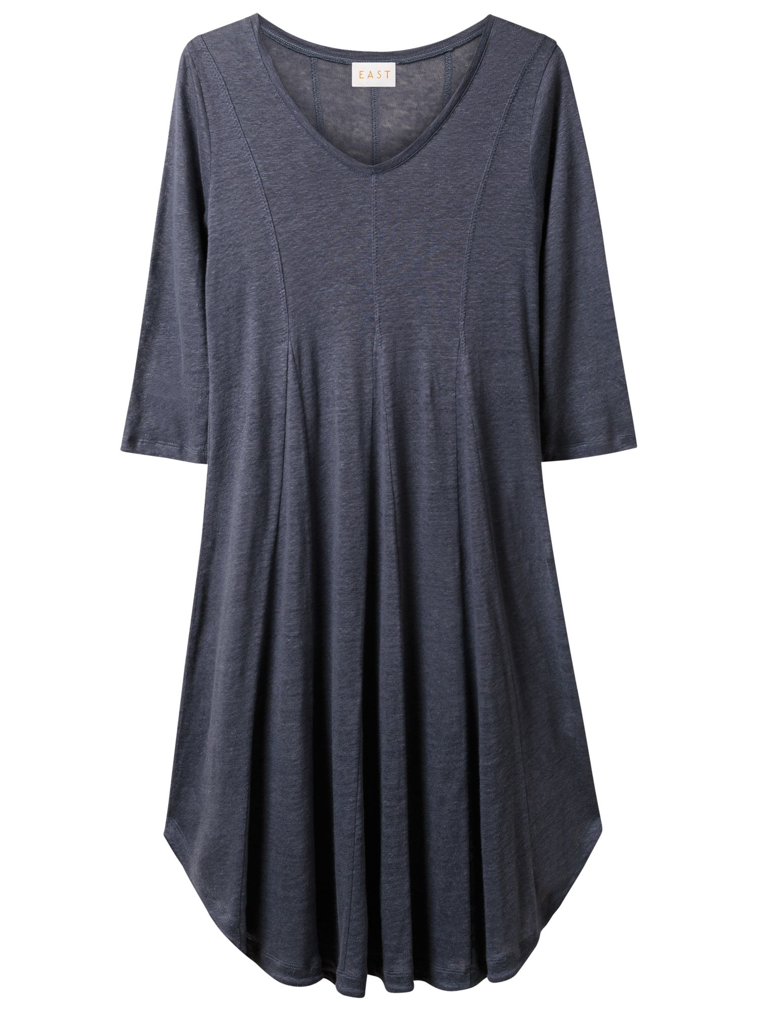 east godet jersey dress blue stone, east, godet, jersey, dress, blue, stone, xs|m|xl|l|s, women, womens dresses, 1845062