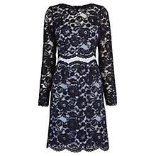 Buy Coast Carry Lace Dress, Navy Online at johnlewis.com