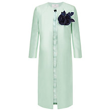 Buy Jacques Vert Petite Corsage Trim Occasion Coat, Light Green Online at johnlewis.com