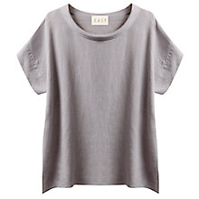 Buy East Bardot Neck Linen Top, Smoke Online at johnlewis.com