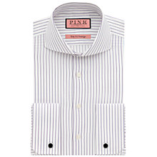 Buy Thomas Pink Browes Stripe Shirt, White/Purple Online at johnlewis.com