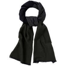 Buy Jaeger Colour Block Scarf, Forest Green Online at johnlewis.com