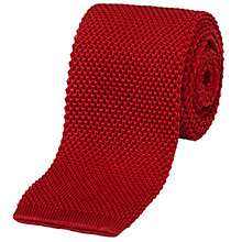 Buy Jaeger Knitted Silk Tie, Red Online at johnlewis.com