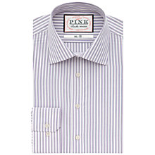 Buy Thomas Pink Becker Stripe Shirt, White/Purple Online at johnlewis.com