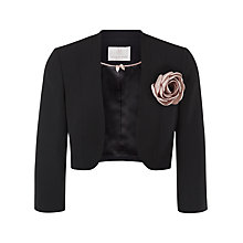 Buy Jacques Vert Petite Corsage Trim Bolero, Black Online at johnlewis.com
