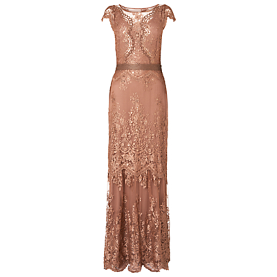 Phase Eight Collection 8 Cindy Lace Full Length Dress Petal £175.00 AT vintagedancer.com