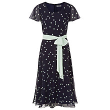 Buy Jacques Vert Petite Fit and Flare Dress, Multi Navy Online at johnlewis.com