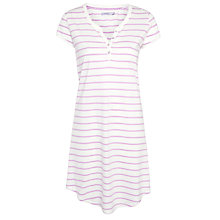 Buy John Lewis Stripe Nightshirt, Ivory / Violet Online at johnlewis.com