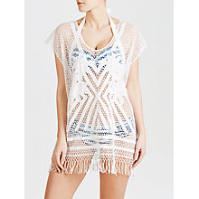 Buy Seafolly Miami Summer Kaftan, White, One Size Online at johnlewis.com