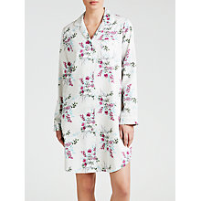 Buy John Lewis Bloom Floral Nightshirt, Cream / Violet Online at johnlewis.com