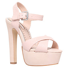 Buy Miss KG Felicity Platform Snake Sandals, Nude Online at johnlewis.com