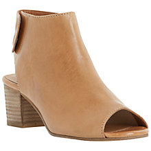 Buy Dune Joanna Open Toe Leather Ankle Boots Online at johnlewis.com