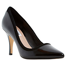 Buy Dune Alivio Pointed Toe Patent Court Shoes, Black Online at johnlewis.com