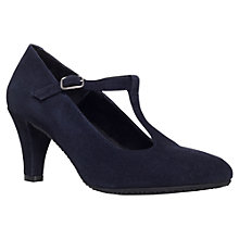 Buy Carvela Comfort Anna Suede Court Shoes, Navy Online at johnlewis.com