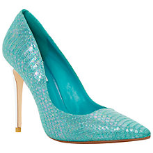 Buy Dune Brooks Extreme Pointed Toe Court Shoes, Blue Online at johnlewis.com
