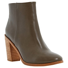 Buy Dune Pema Leather Stacked Heel Ankle Boots Online at johnlewis.com