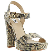 Buy Dune Mariella Block Heel Leather Sandals Online at johnlewis.com