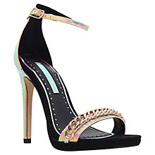 Buy Miss KG Frankie Chain Snake Sandals, Black Online at johnlewis.com