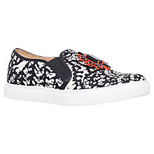 Buy Miss KG Loretta Brooch Slip On Trainers, Black/White Online at johnlewis.com
