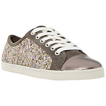 Buy Dune Ennis Glitter Lace Up Trainers, Pewter Online at johnlewis.com