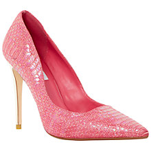 Buy Dune Brooks Extreme Pointed Toe Court Shoes, Pink Online at johnlewis.com