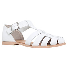 Buy Miss KG Martha Chunky Leather Strap Sandals, White Online at johnlewis.com