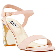 Buy Dune Maia Jewelled Block Heel Patent Sandals, Pink Online at johnlewis.com