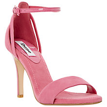 Buy Dune Madeira Ankle Strap Suede Sandals, Pink Online at johnlewis.com