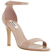 Buy Dune Hydro Two Part Ankle Strap Patent Sandals, Blush Online at johnlewis.com