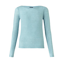 Buy Jigsaw Cashmere Sheer Jumper, Aqua Online at johnlewis.com
