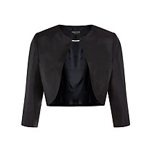 Buy Precis Petite Cropped Collarless Jacket, Black Online at johnlewis.com