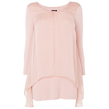 Buy Phase Eight Therese Sleeve Split Back Blouse, Blush Online at johnlewis.com
