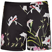 Buy Ted Baker Mirrored Tropics Shorts, Black Online at johnlewis.com