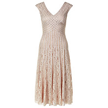 Buy Jacques Vert Taped Lace Dress, Light Brown Online at johnlewis.com
