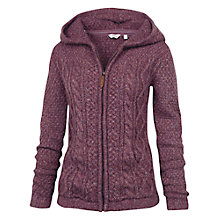Buy Fat Face Alicia Cable Knit Zip Through Hoodie, Dark Heather Online at johnlewis.com