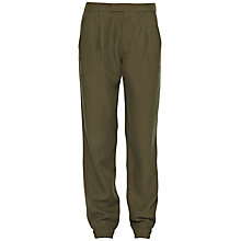 Buy French Connection Basket Tencel Trousers, Gator Green Online at johnlewis.com