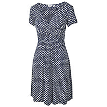 Buy Fat Face Camille Batik Star Dress, Dark Chambray Online at johnlewis.com